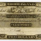 Rhode Island, Newport, New England Commercial Bank, $2, 18--, (1830s)