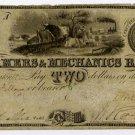Vermont, Burlington, Farmers and Mechanics Bank, $2, Nov 3, 1836