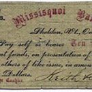 Vermont, Sheldon, Keith & Smith, 10 Cents, October 10, 1862