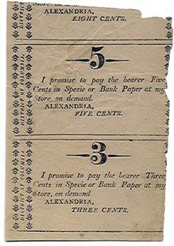Virginia, Alexandria, 3 & 5 Cents, 18--, (c. 1818)