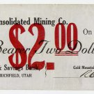 Utah, Richfield, Gold Mountain Consolidated Mining Co., $2, June 10, 1908