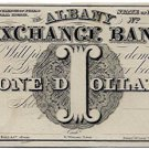New York, Albany, Albany Exchange Bank, $1, 18--, (1840s)