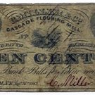 New York, Amsterdam, C. Miller & Co., Cascade Flouring Mill, 10 Cents, September 26, 1862