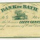 New York, Bath, Bank of Bath, 50 Cents, Nov 1, 1862