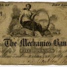 New York, Brooklyn, Mechanics Bank, $5, April 1, 1855