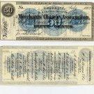 New York, Brooklyn, Merchants Change Association, 50 Cents, July 1862