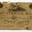 New York, Catskill, Catskill Bank, 50 Cents, Jan 2, 1816