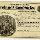 New York, Cleveland, Cleveland Glass Works, 5 Cents, 187-, (1870s)