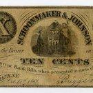 New York, Coeymans, Schoonmaker & Johnson, 10 Cents, Oct 15, 1862