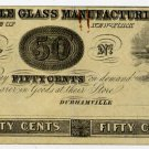 New York, Durhamville, Durhamville Glass Manufacturing Co., 50 Cents, 18B, (1850s)