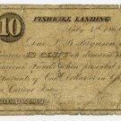 New York, Fishkill Landing (now Beacon), Wal? Van Wagner?, 10 Cents, July 4, 1862