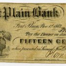 New York, Fort Plain, Plank and Co., 15 Cents, Nov 1, 1862