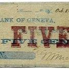 New York, Geneva, G.M. Nicholas, 5 Cents, October 8, 1862