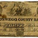 New York, Granby, Oswego County Bank, $3, Jan 15, 1849,