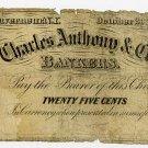 New York, Gouverneur, Egert & Co., 25 Cents, October 20, 1862