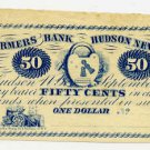 New York, Hudson, Hiram W. Dixon, 50 Cents, September 4, 1862