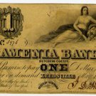 New York, Leedsville, The Amenia Bank, $1, May 1, 1844
