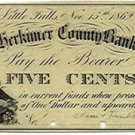 New York, Little Falls, Adam Fralick, 5 Cents, November 15, 1862