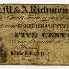 New York, Little Falls, S.M. & A. Richmond, 5 Cents, Nov 15, 1862