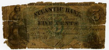 New York, New York, Bryan and Co., 5 Cents, Nov 1862