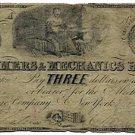 New York, New York, Mechanics Exchange Company, $3, June 1, 1839