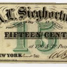 New York, New York, A.L. Sieghortner, 15 Cents, June 30, 1862
