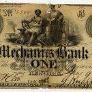 New York, New York, Mechanics Bank, $1, June 9, 1862