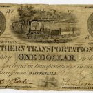 New York, Whitehall, Northern Transportation Line, $1, March 4, 1841