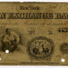 New York, New York, The Corn Exchange Bank, $2, October 1, 1860