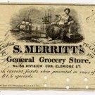 New York, New York, S. Merritt's General Grocery Store, 50 Cents, 186-, (1862-3)
