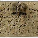 New York, New York, Franklin Bank of the City of New York, $5, Nov 1, 1823