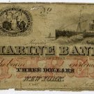 New York, New York, Marine Bank, $3, 1863