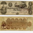New York, New York, Merchants Banking Co., $1, 18B, (circa 1840)