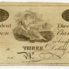 New York, New York, Union Bank, $3, 18B, (1810s)