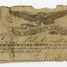 New York, Penn Yan, AC Gillett, 25 Cents, July 4, 1837
