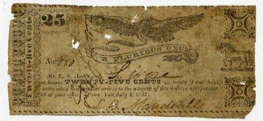 New York, Penn Yan, L.B. Mandeville, 25 Cents, July 4, 1837