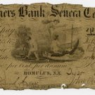 New York, Romulus, Farmers Bank of Seneca County, $3, Dec 25, 1839