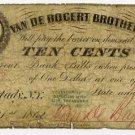 New York, Schenectady, Van De Bogert Brothers, 10 Cents, July 21, 1862