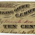 New York, Sing Sing (now Ossining), (Barlow Brothers), 10 Cents, July 18, 1862