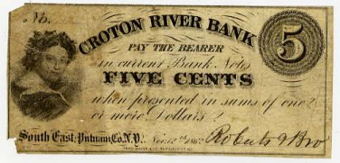New York, South East (now Brewster), Roberts and Brother, 5 Cents, Nov 12, 1862