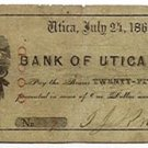 New York, Utica, I.J. Knapp, 25 Cents, July 24, 1862