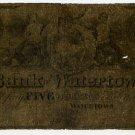 New York, Watertown, Bank of Watertown, $5, 1863?