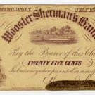 New York, Watertown, Higgins, Johnson and Woodhull, 25 Cents, July 15, 1862