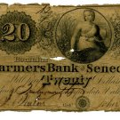 New York, Romulus, The Farmers Bank of Seneca County, $20, Bill of Exchange, Nov 20, 1839
