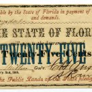 Florida, Tallahassee, State of Florida, 25 Cents, February 2nd, 1863, Ch. CU
