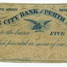 New Jersey, Perth Amboy, John Manning, 5 Cents, November 1, 1862