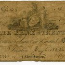 New Jersey, Trenton, State Bank at Trenton, $1, May 5, 1822
