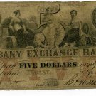 New York, Albany, Albany Exchange Bank, $5, Sept 16, 1859, Haxby Plate Note