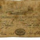 New York, New York, Mechanics Bank, $5, June 2, 1826