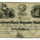 Wisconsin, Milwaukee, Hemenway's Bank of Deposite & Exchange, $2, May 21, 1849